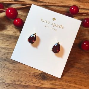 ♠️ NEW Kate Spade Red Tear Drop Stud Earrings